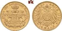 10 Mark 1905. Hamburg Freie und Hansestadt. Fast vorzüglich  275,00 EUR  +  9,90 EUR shipping