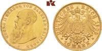 10 Mark 1909. Sachsen-Meiningen Georg II., 1866-1914. Vorzüglich-Stempe... 7245,00 EUR free shipping