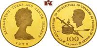 100 Crowns 1979. TURKS AND CAICOS ISLANDS Elizabeth II. seit 1952. Prac... 415,00 EUR  +  9,90 EUR shipping