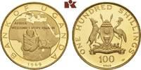 100 Shillings 1969. UGANDA Republik. Polierte Platte  575,00 EUR  +  9,90 EUR shipping
