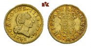 1/2 Escudo 1761 M-PJ, Madrid. SPANIEN Carlos III., 1759-1788. Vorzüglic... 275,00 EUR  +  9,90 EUR shipping