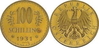 100 Schilling, Wien 1931 Österreich, Repub...