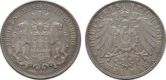 2 Mark 1896, J. Hamburg Freie und Hansesta...