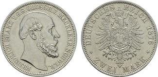 2 Mark 1876, A. Mecklenburg-Schwerin Fried...