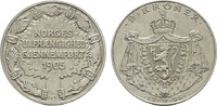 2 Kroner 1906. NORWEGEN Haakon VII., 1905-1958. Fast Stempelglanz  180,00 EUR  +  7,00 EUR shipping