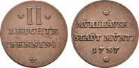 2 Leichte Pfennig 1737. MÜHLHAUSEN IN THÜRINGEN  Sehr schön +  55,00 EUR