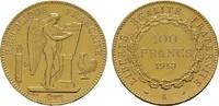 100 Francs 1913, A-Paris. FRANKREICH 3. Republik, 1870-1940. Fast vorzü... 1450,00 EUR