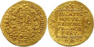 Dukat Gold 1637 Frankfurt-Stadt  Rand mini...