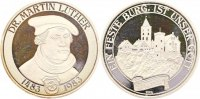 Reformation Silbermedaille . Geburtstag von Martin Luther 1983.
