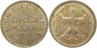 3 Mark 1924  G Weimarer Republik  Winz. Randfehler, vorzüglich +  75,00 EUR  Excl. 4,00 EUR Verzending