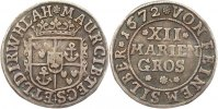 12 Mariengroschen 1672 Bentheim-Tecklenburg-Rheda Moritz 1623-1674. Seh... 135,00 EUR