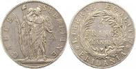 Italien-Subalpine Republik Massa und Carrara 5 Francs Republik 1800-1802.