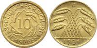 10 Pfennig 1931  D Weimarer Republik  Fast Stempelglanz  125,00 EUR