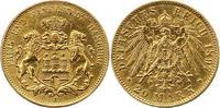 20 Mark Gold 1897  J Hamburg  Sehr schön  325,00 EUR