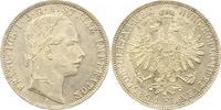 Gulden 1861  A Haus Habsburg Franz Joseph I. 1848-1916. Fast Stempelglanz  65,00 EUR  +  4,00 EUR shipping