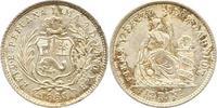 1/2 Dinero 1863 Peru  Vorzüglich - Stempelglanz  65,00 EUR  excl. 4,00 EUR verzending