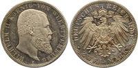 2 Mark 1908  F Württemberg Wilhelm II. 1891-1918. Vorzüglich aus Polier... 75,00 EUR  Excl. 4,00 EUR Verzending