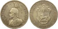 Rupie 1898 Deutsch Ostafrika  Winz. Randfehler, Kratzer, fast sehr schön  55,00 EUR  plus 4,00 EUR verzending