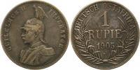 Rupie 1905  J Deutsch Ostafrika  Winz. Kratzer, sehr schön  50,00 EUR  plus 4,00 EUR verzending