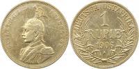Rupie 1906  A Deutsch Ostafrika  Gereinigt, fast sehr schön  45,00 EUR  plus 4,00 EUR verzending