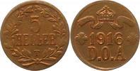 5 Heller 1916  T Deutsch Ostafrika  Sehr schön +  75,00 EUR  +  4,00 EUR shipping
