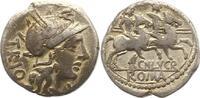 Denar 136 -126  v. Chr. Republik CN. Lucretius Trio 136 -126 v. Chr.. S... 70,00 EUR  +  4,00 EUR shipping