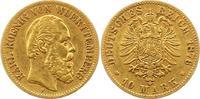 10 Mark Gold 1876  F Württemberg Karl 1864-1891. Sehr schön  225,00 EUR  +  4,00 EUR shipping