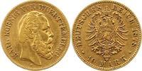10 Mark Gold 1878  F Württemberg Karl 1864-1891. Sehr schön  235,00 EUR  +  4,00 EUR shipping