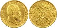 20 Mark Gold 1897  F Württemberg Wilhelm II. 1891-1918. Sehr schön +  345,00 EUR free shipping