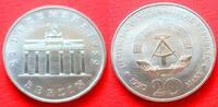 20 Mark 1990 DDR Brandenburger Tor 1990 Stempelglanz  5,00 EUR  +  5,00 EUR shipping