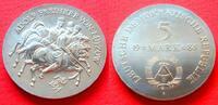 5 Mark 1984 DDR Adolf Freiherr von Lützow Stempelglanz  40,00 EUR  zzgl. 5,00 EUR Versand