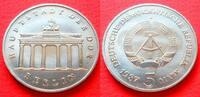 5 Mark 1987 DDR Brandenburger Tor 1987 Stempelglanz  5,00 EUR  +  5,00 EUR shipping