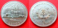 5 Mark 1988 DDR Überseehafen Rostock Stempelglanz  6,00 EUR  +  5,00 EUR shipping