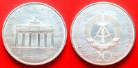 20 Mark 1990 DDR Brandenburger Tor 1990, Silver Stempelglanz  19,00 EUR  +  5,00 EUR shipping