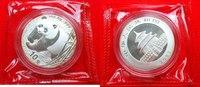 10 Yuan 2001 China Panda 1 Ounce Silver, OVP Stempelglanz Brilliant unc... 100,00 EUR  +  6,00 EUR shipping