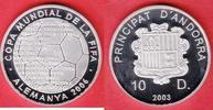 10 Dinars 2003 Andorra Fußball - Ländernamen - Fußball WM 2006 Deutschl... 21,50 EUR  zzgl. 5,00 EUR Versand