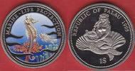 1 Dollar 1995 Palau Seepferdchen, Meeresfauna, Marine - Life Protection... 7,50 EUR  zzgl. 5,00 EUR Versand