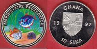 10 Sika 1997 Ghana Meeresmotiv, Meeresfauna, Marine - Life Protection, ... 9,50 EUR  zzgl. 5,00 EUR Versand