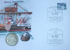 5 Mark 1988 DDR Überseehafen Rostock, Numisbrief Stempelglanz  7,00 EUR  zzgl. 5,00 EUR Versand