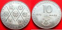 10 Mark 1975 DDR Warschauer Vertrag bankfrisch  3,00 EUR  +  5,00 EUR shipping