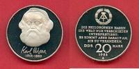 20 Mark 1983 DDR Karl Marx, encapsuled Polierte Platte offen, Proof PP  30,00 EUR  +  5,00 EUR shipping