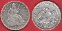 USA 1/2 Dollar (Kleb) seated liberty, halfdollar