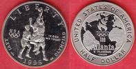 1/2 Dollar 1995 USA Olympiade 1996 Atlanta, Basketball Polierte Platte ... 10,00 EUR  zzgl. 5,00 EUR Versand