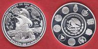 5 Dollars 2003 Mexiko Galeone im Hafen von Acapulco, Seefahrt, Iberoame... 32,00 EUR  zzgl. 5,00 EUR Versand
