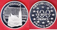 100 Francs / 15 Eurotaler 1996 Frankreich Wien, Stephansdom Polierte Pl... 18,00 EUR  +  5,00 EUR shipping