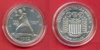 1 Dollar 1992 USA Olympic Games 1992 Seoul, Baseball Stempelglanz Brill... 20,20 EUR  +  5,00 EUR shipping