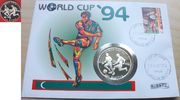 250 Rufiyaa 1993 Malediven Fußball WM USA 1994, Zweikampf, Numisbrief P... 17,00 EUR  +  5,00 EUR shipping