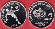 5 Pesos 2004 Argentinien World Soccer Games 2006 Polierte Platte Proof PP  17,00 EUR  +  5,00 EUR shipping
