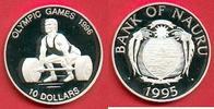 10 Dollars 1995 Nauru Olympic Games 1996 Atlanta, Weight lifter Poliert... 26,00 EUR  +  5,00 EUR shipping