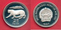 25 Tugrik 1987 Mongolei Schneeleopard, Tierwelt, WWF, Endangered Wildli... 21,00 EUR  zzgl. 5,00 EUR Versand